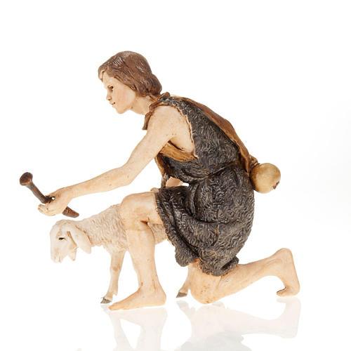 Figurines for Moranduzzo nativities, shepherd with fife and shee 2