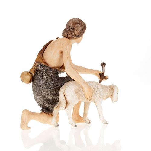 Figurines for Moranduzzo nativities, shepherd with fife and shee 3