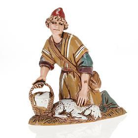 Nativity figurine, shepherd with lamb and basket, 10cm Moranduzz s1