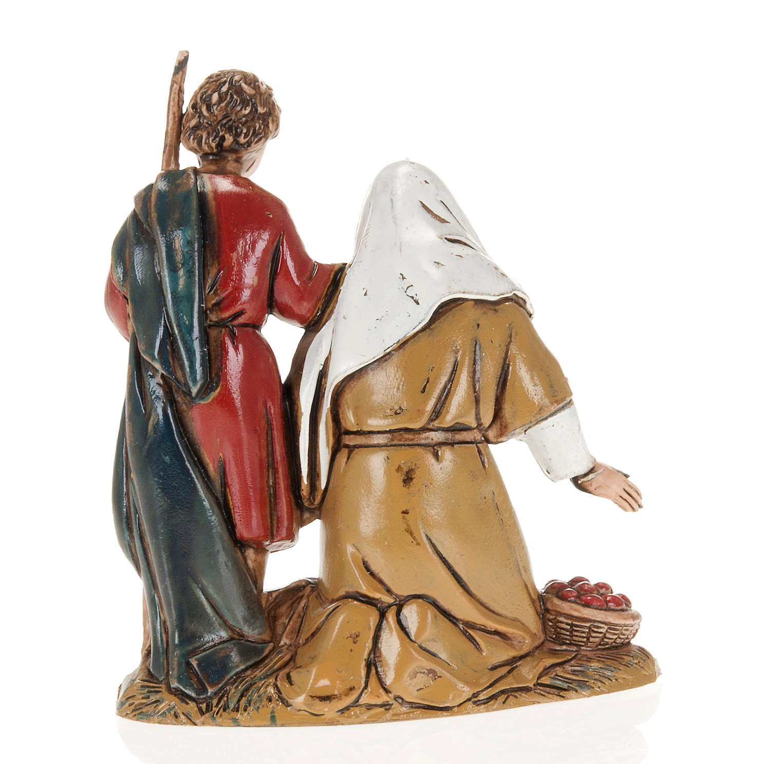 Moranduzzo Nativity Scene grandfather and grandson figurine 10cm 3