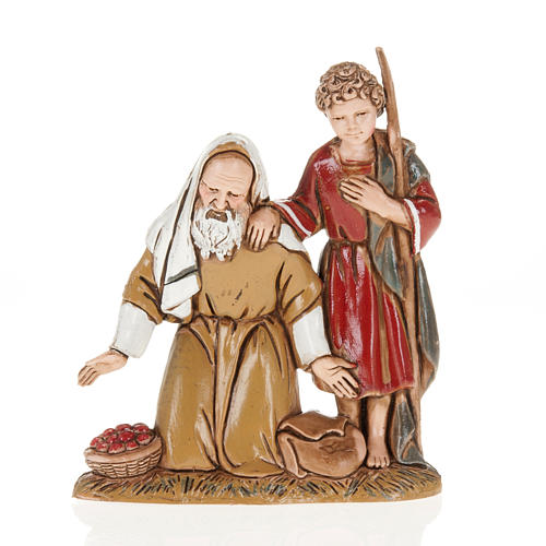 Moranduzzo Nativity Scene grandfather and grandson figurine 10cm 1