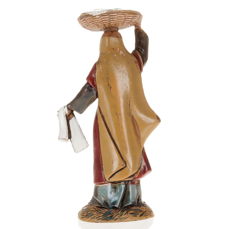 Femme avec panier crèche Moranduzzo 10 cm 3