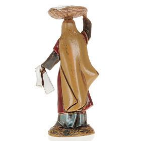 Femme avec panier crèche Moranduzzo 10 cm s2
