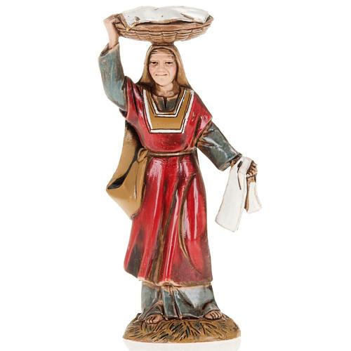 Femme avec panier crèche Moranduzzo 10 cm 1