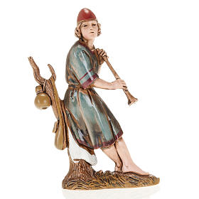 Figurines for Moranduzzo nativities, fifer sitting on tree 10cm s1