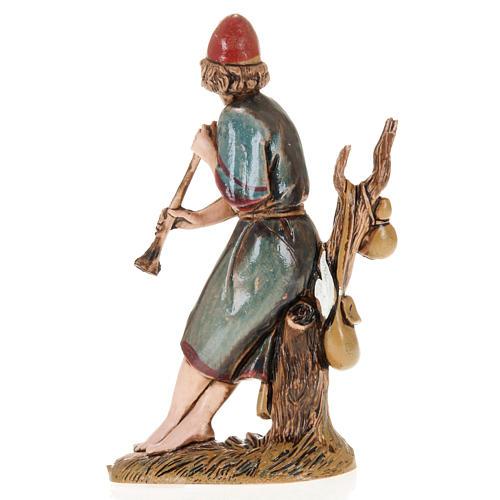Figurines for Moranduzzo nativities, fifer sitting on tree 10cm 2
