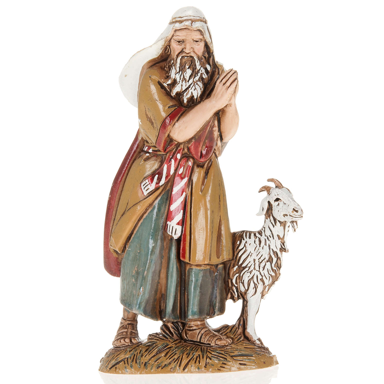 Nativity Scene figurine, old man with goat 10cm Moranduzzo 3