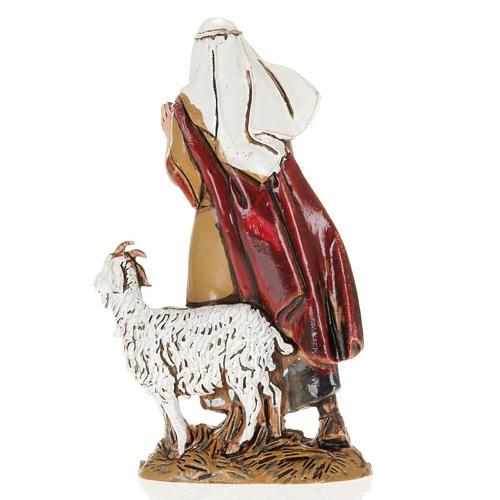 Nativity Scene figurine, old man with goat 10cm Moranduzzo 2