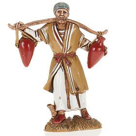 Nativity Scene figurine, man with two amphorae 10cm Moranduzzo s1