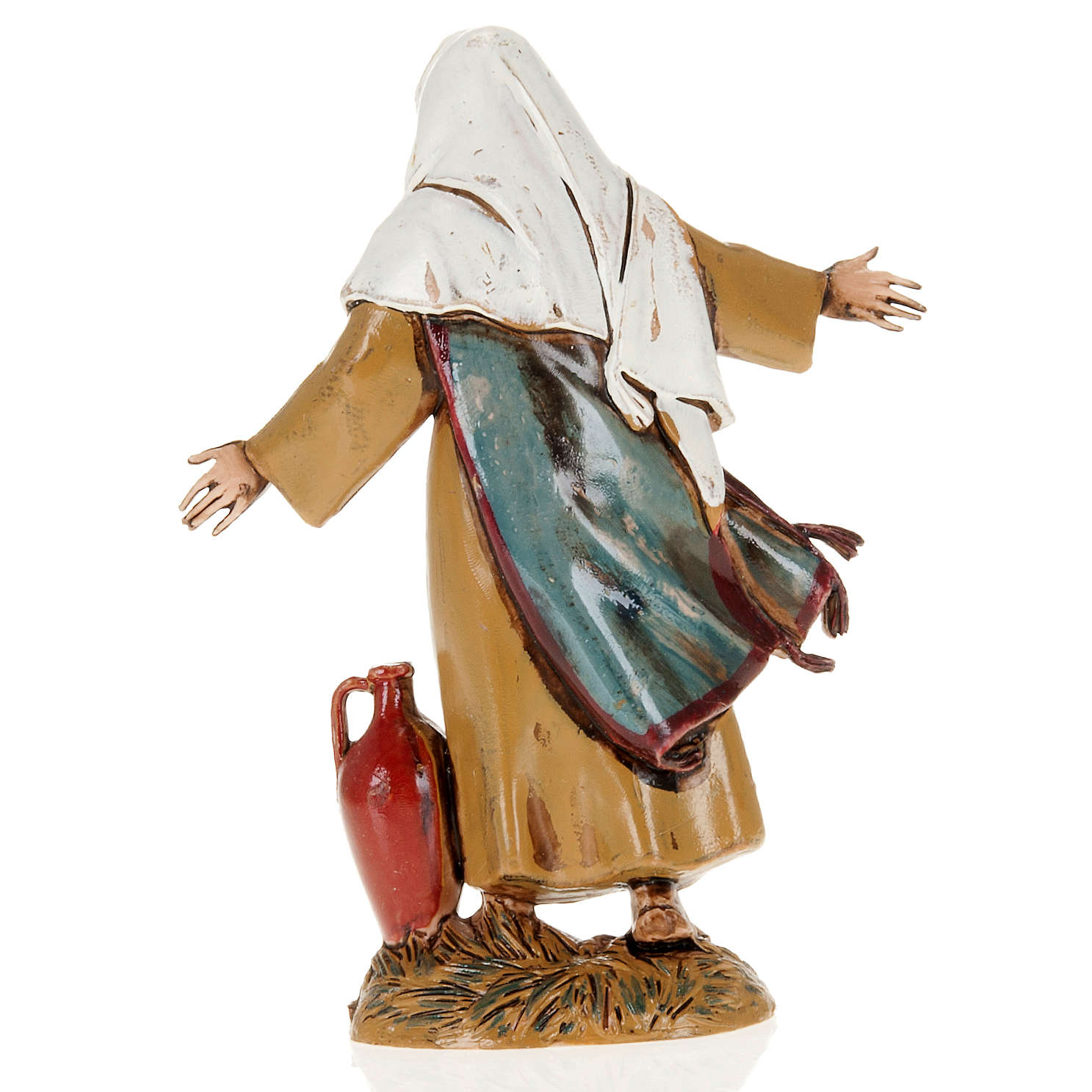 Man with open arms and amphora, nativity figurine, 10cm Moranduzzo 3