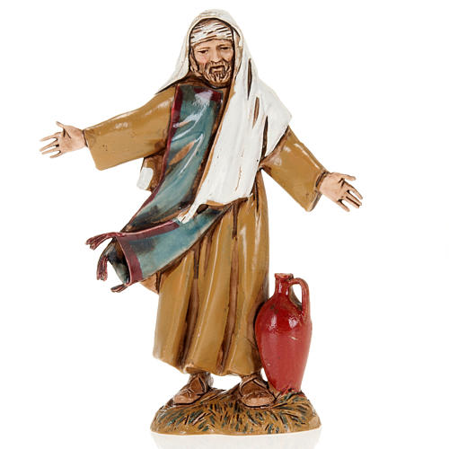 Man with open arms and amphora, nativity figurine, 10cm Moranduzzo 1