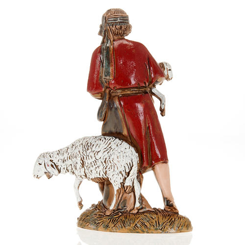 Ragazzo pastore con pecora e agnello 10 cm Moranduzzo 2