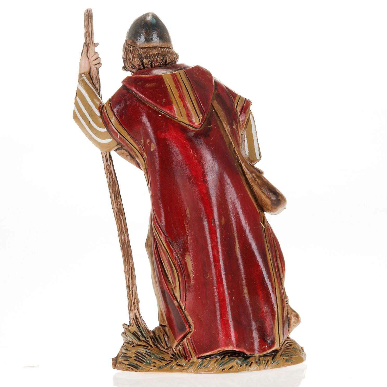 Wayfarer with walking stick, nativity figurine, 10cm Moranduzzo 3