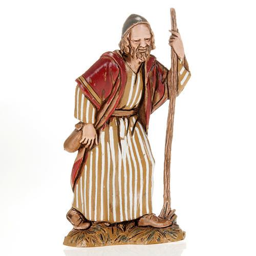Wayfarer with walking stick, nativity figurine, 10cm Moranduzzo 1