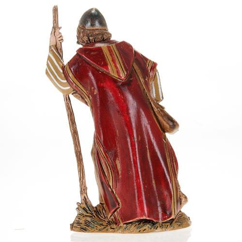 Wayfarer with walking stick, nativity figurine, 10cm Moranduzzo 2