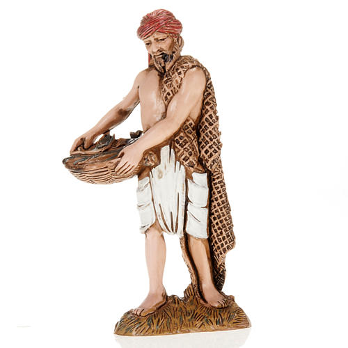 Figurines for Moranduzzo nativities, fisherman with basket and n 1