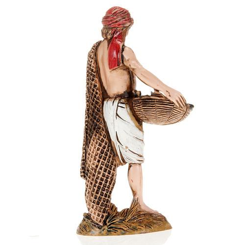 Figurines for Moranduzzo nativities, fisherman with basket and n 2