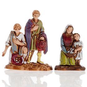 Pastores dobles 6 piezas 3 cm. Moranduzzo s3