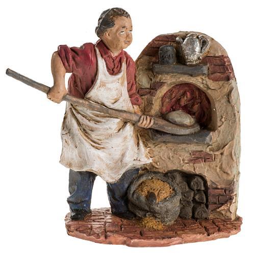 Panettiere 13 cm resina statua presepe 1