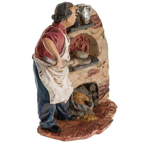 Panettiere 13 cm resina statua presepe 2