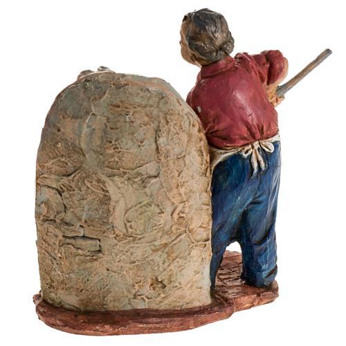 Panettiere 13 cm resina statua presepe 4