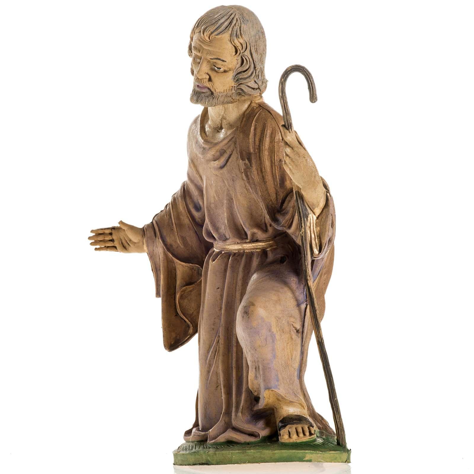 San Giuseppe 18 cm resina statua presepe 3