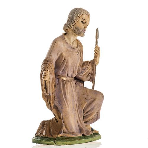 San Giuseppe 18 cm resina statua presepe 2