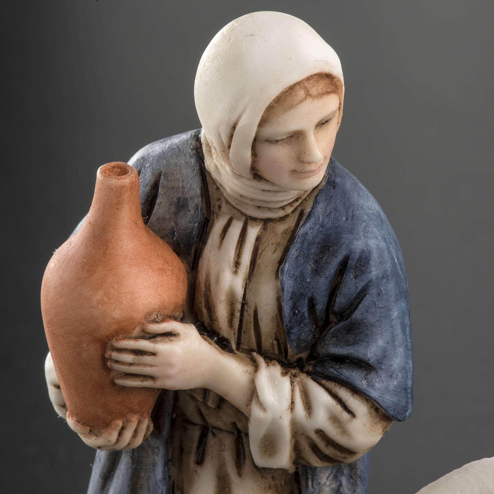 Woman with amphora and kneeling shepherd Moranduzzo 11cm 3