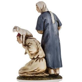 Woman with amphora and kneeling shepherd Moranduzzo 11cm s3