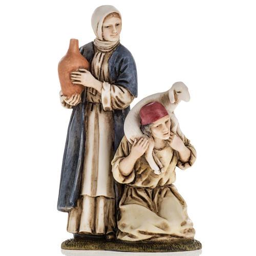 Woman with amphora and kneeling shepherd Moranduzzo 11cm 1