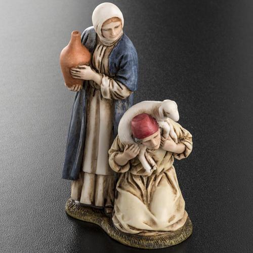 Woman with amphora and kneeling shepherd Moranduzzo 11cm 4