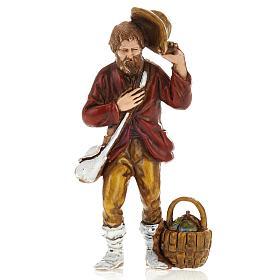 Homme avec chapeau, santon crèche Moranduzzo 8 cm s1