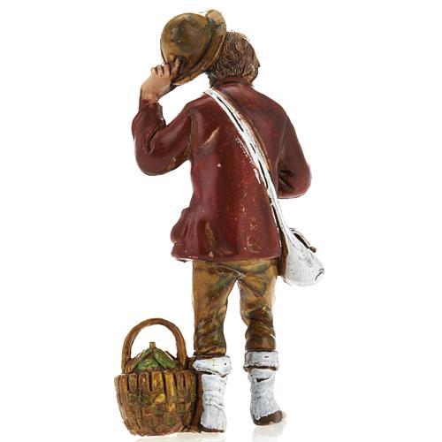 Homme avec chapeau, santon crèche Moranduzzo 8 cm 2