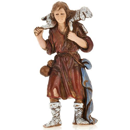 Young shepherd with sheep, nativity figurine, 8cm Moranduzzo 1