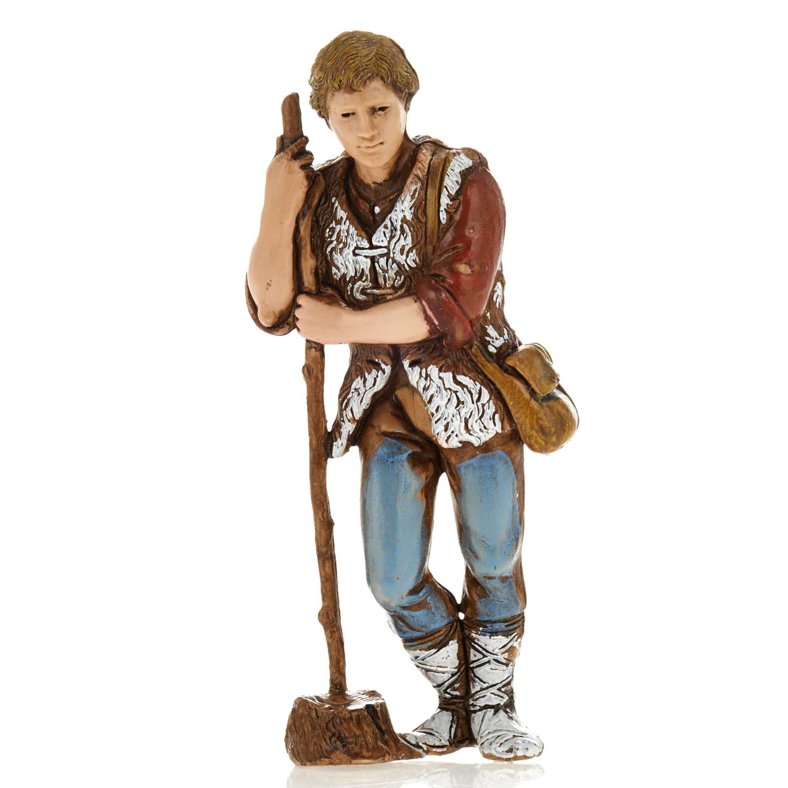 Man with walking stick, nativity figurine, 8cm Moranduzzo 4