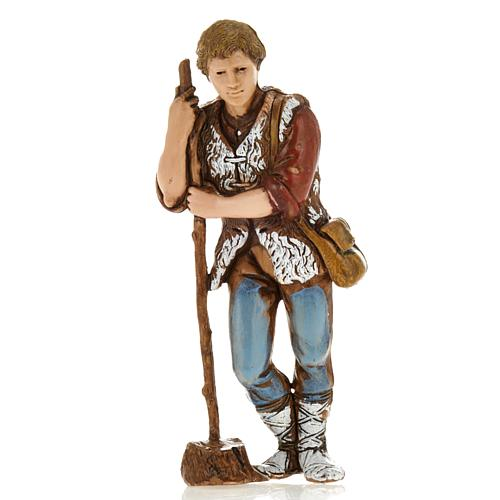 Man with walking stick, nativity figurine, 8cm Moranduzzo 1