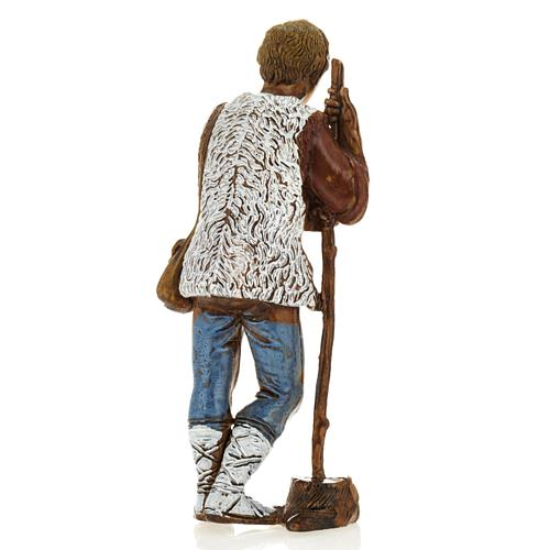 Man with walking stick, nativity figurine, 8cm Moranduzzo 2