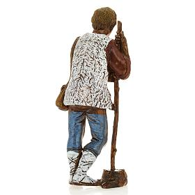 Man with walking stick, nativity figurine, 8cm Moranduzzo s2