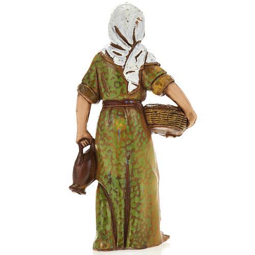 Woman with basket, nativity figurine, 8cm Moranduzzo 2