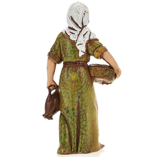 Femme avec panier, santon crèche Moranduzzo 8 cm 2