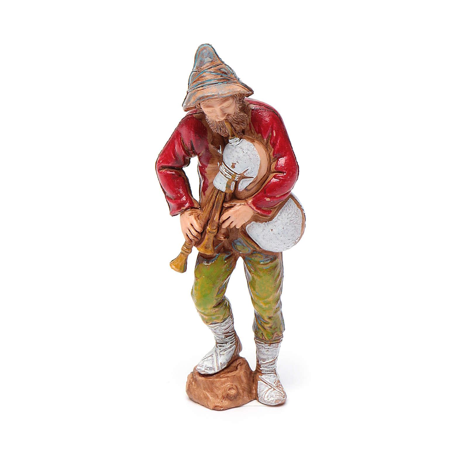 Joueur de musette, santon crèche Moranduzzo 8 cm 4