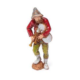 Joueur de musette, santon crèche Moranduzzo 8 cm s1