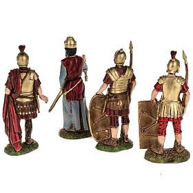 6 cm Multicolore Moranduzzo Re Erode e 2 Soldati Romani