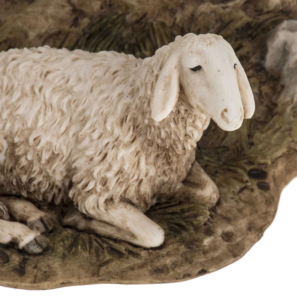 Guardiano con pecora 18 cm presepe Landi 3