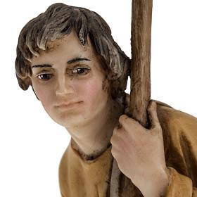 Pastorello con agnello 18 cm presepe Landi s3