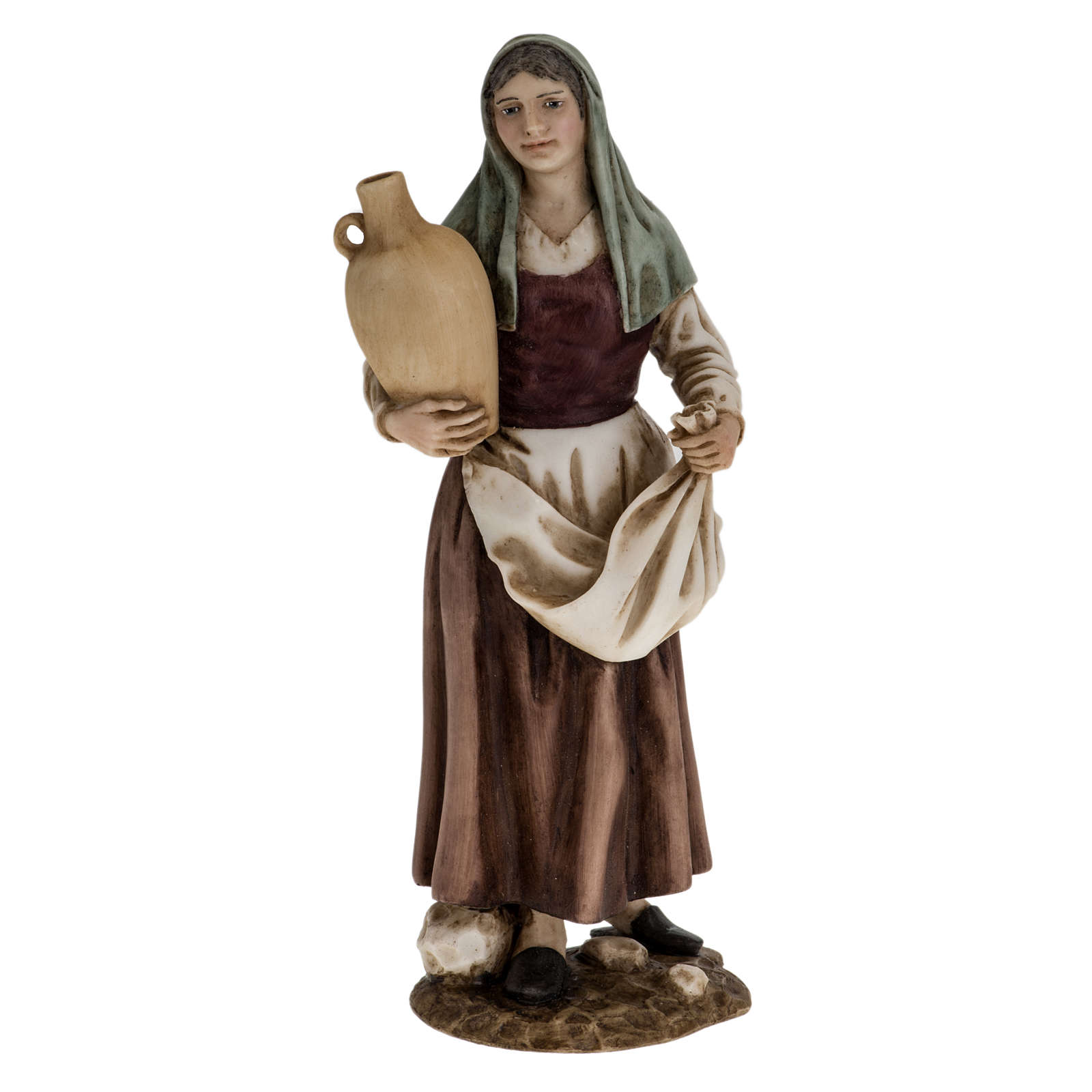 Donna con anfora 18 cm presepe Landi 3