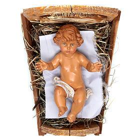 Niño Jesús y Cuna para Belén Fontanini con figuras de altura media 45 cm s1