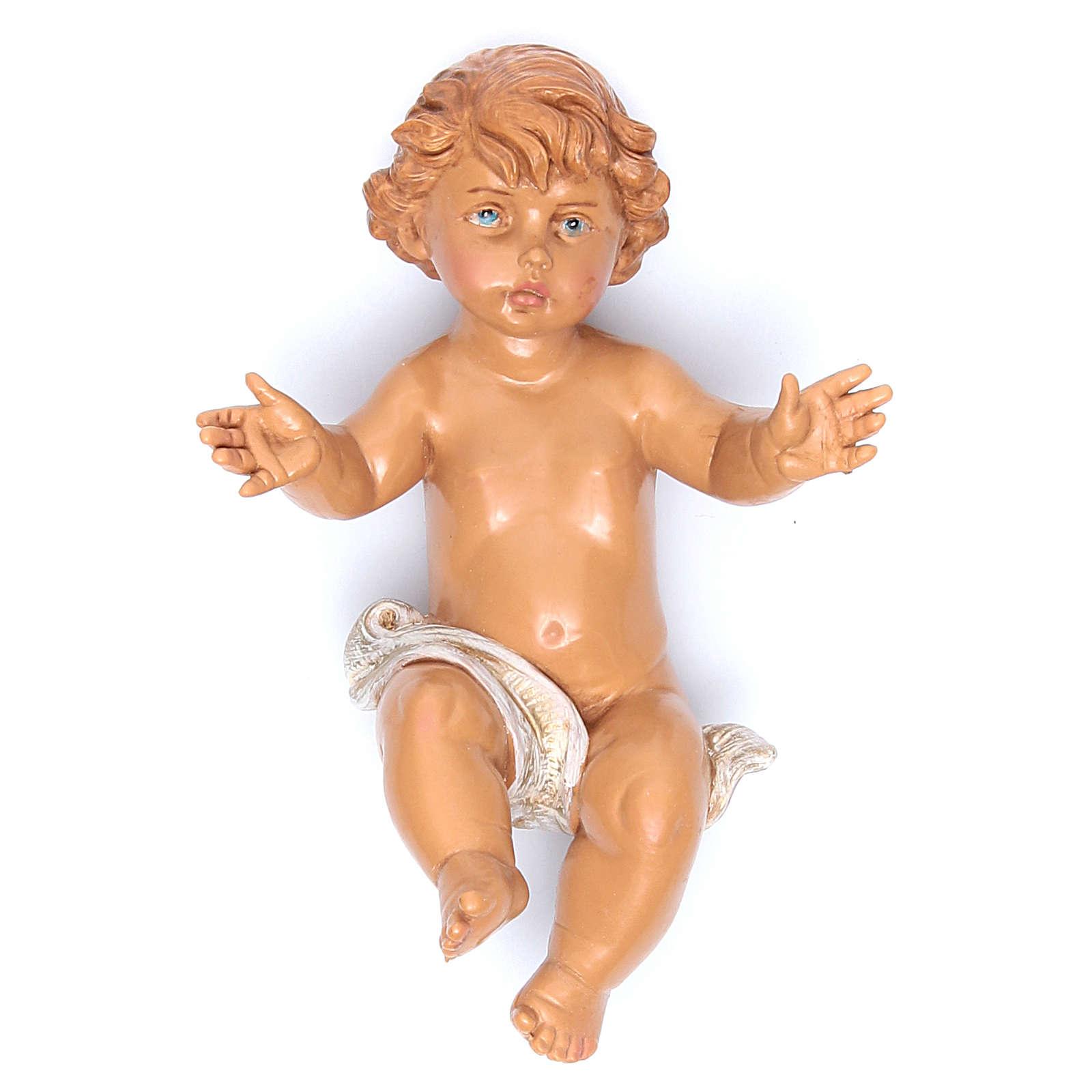 Gesù Bambino e culla presepe Fontanini 45 cm 4