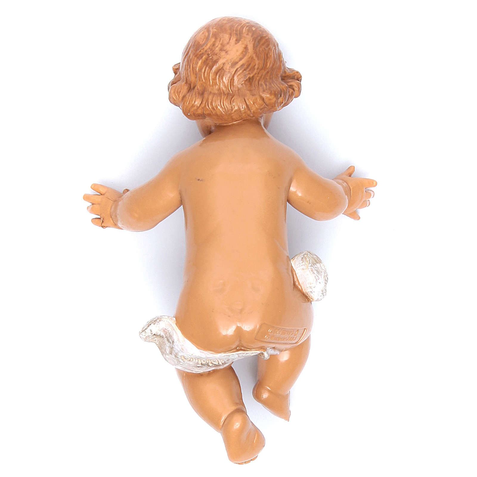 Gesù Bambino e culla presepe Fontanini 45 cm 3