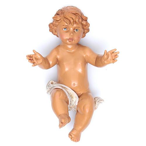 Gesù Bambino e culla presepe Fontanini 45 cm 2